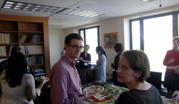 Gathering inside office